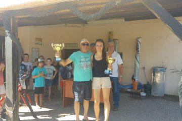 עופר יעקב, מהפועל שדות ים, ואנה גרשביץ', ממועדון השייט הרצליה, הוכתרו לאלופי ישראל בקטמרן