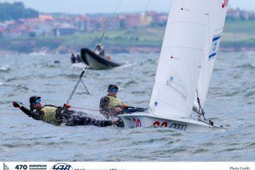 גיל כהן ונועה לסרי במקום ה-5 באליפות אירופה במפרשיות 470. ניתאי חסון וטל הררי במקום ה8-  באליפות אירופה