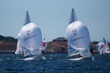 מאור עבו ויואב רוז דורגו 4 באליפות צרפת הפתוחה לבוגרים במפרשיות 470
